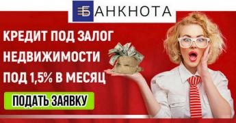 Loan as collateral for real estate Kiev