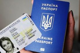 Passport Ukrainian passport, right
