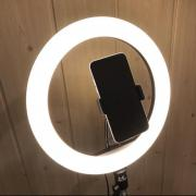 Ring light 26 cm on tripod 2 meters with phone holder LED light ring selfie